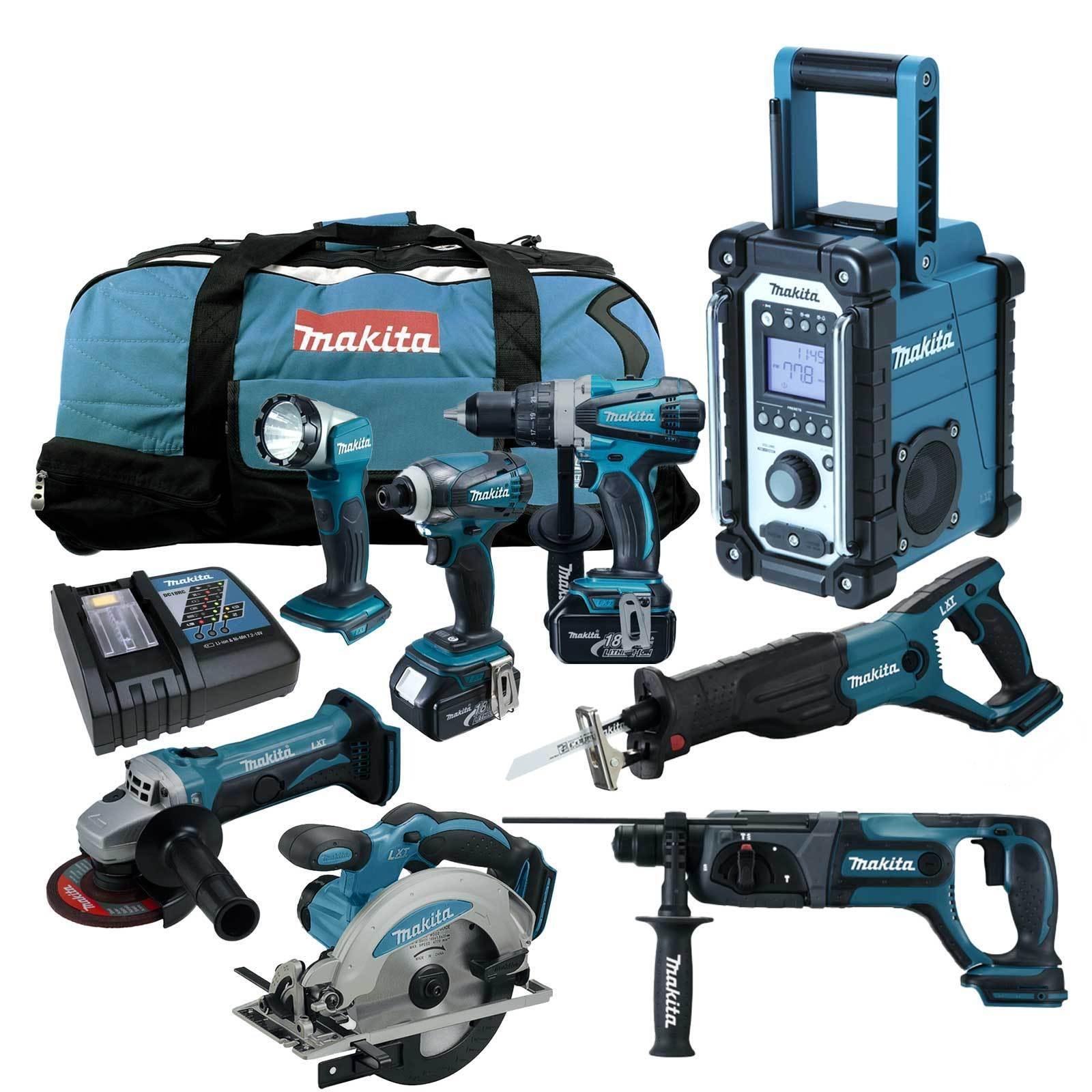 12tlg. Makita 18V Akku Werkzeug Set +DDF458RMJ Bohrschrauber +DHR241 +DMR107 Y1J