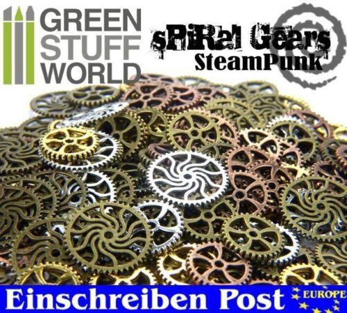 85 gr Perlen Steampunk-Sets /& SPIRAL-Zahnräder für Bastler Schmuck Anhänger