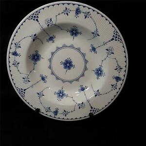 Vintage-Furnivals-Blue-Denmark-8-3-4-034-Rimmed-Soup-Bowl-Made-In-England-Very-Good