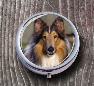 DOG-BLUE-COLLIE-BREED-PILL-BOX-ROUND-METAL-jfv5Z
