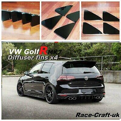 Mk7 Golf R >> Vw Golf R Diffuser Fins Golf R Mk7 Diffuser Volkswagen Golf R Golf R Diffuser Ebay