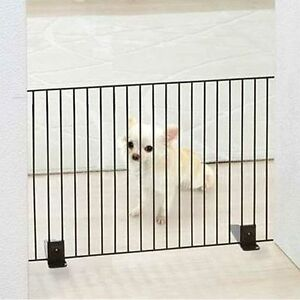 Iris Freestanding Metal Wire Pet Gate Safety Dog Barrier Stair Gate