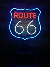 ROUTE 66 Handcrafted Neon Sign Novelty Table Deco Bar Night Lamp