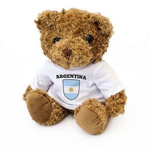 NEW-ARGENTINA-Flag-Teddy-Bear-Cute-Cuddly-Soft-Argentinian-Fan-Gift-Present