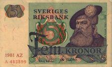 Sweden - 5 Kronor - 1977-81, P#51d