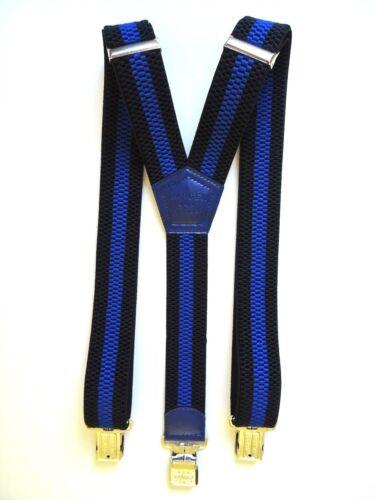 4 cm Extra starke Ranger Y-Form Beruf Freizeit Hosenträger Dyk40 Schwarz Blau