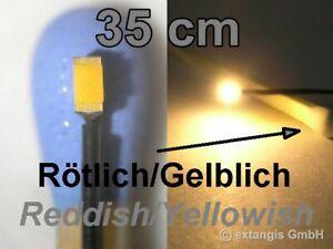 SMD-LED-0603-SUPER-GOLDEN-WHITE-ROTLICH-GELBLICH-Litze-35cm-XL-red-yellowish