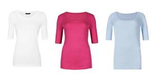 M-amp-S-Autografo-Blanco-Rosa-Azul-para-Mujer-Supima-algodon-cuello-redondo-Camiseta-Top-8-16