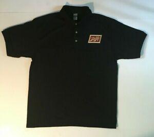 NEW Schlitz Beer Polo Shirt Black S-M-L-XL-XXL Embroidered Emblem