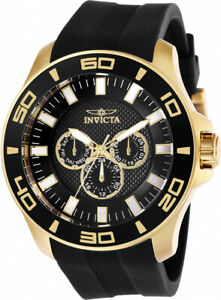Invicta Men's Pro Diver Quartz 100m Stainless Steel/Black Silicone Watch 28001