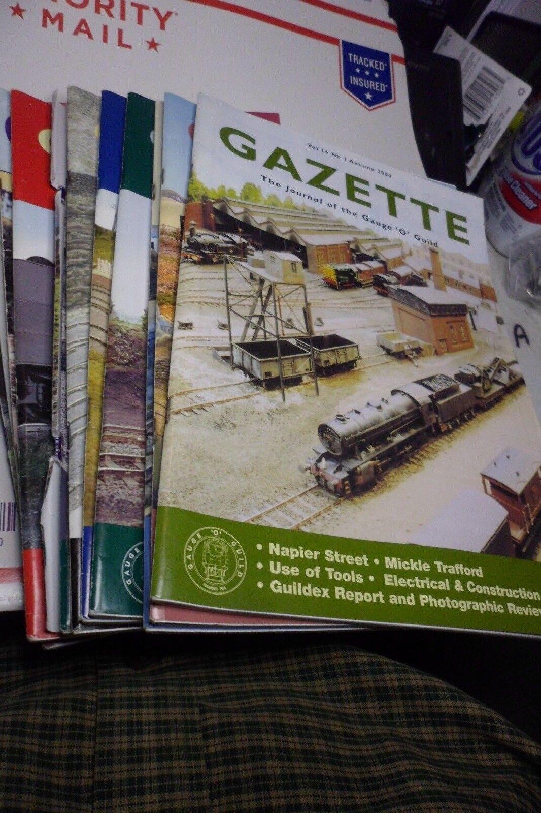 Gazette O gauge train magazines  England  Journal of the Gauge O Guild x12