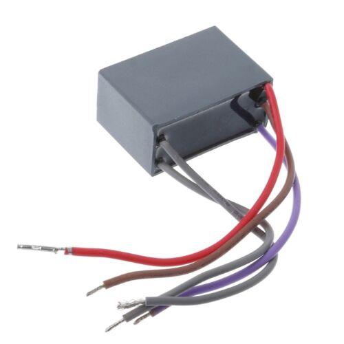 CBB61 Ventilateur de plafond Condensateur 4.5uf+6uf+6uf 5 fil 5 vitesse 250 V Condensateur de démarrage