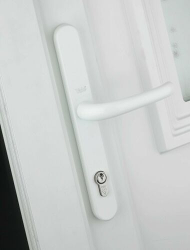 Yale Locks P-PVC-RH-WH Retro Door Handle uPVC Polished PVD White Finish