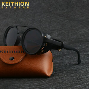 KEITHION-Men-Vintage-Steampunk-Sunglasses-Fashion-Round-Retro-Eyewear