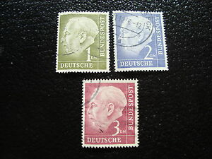 Germany-Rfa-Stamp-yt-N-72-A-72B-Obl-Stamp-Germany