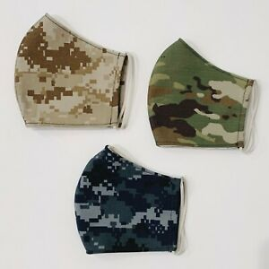 Kids Camo Reusable Washable Face Mask With Filter Pocket Made In Usa Ebay