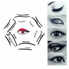 NEW 6 in 1 Cat EYELINER Liquid Stencil Eye Liner Guide Set Tool Quick Makeup UK