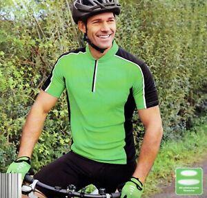 Herren-Fahrradshirt-Sport-Freizeit-reflektierende-Elemente-Reissverschluss-OkoTex