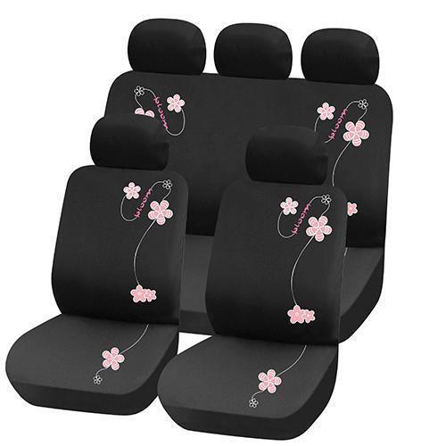 Truyoo pink flower 9pc universal car vehicle seat cover protector truyoo pink flower 9pc universal car vehicle seat cover protector set ebay mightylinksfo