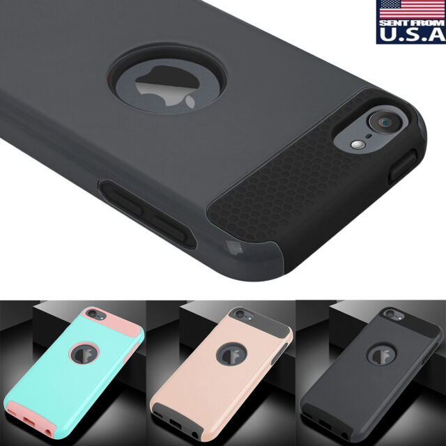 sports shoes 87a55 29ab0 For Apple iPod Touch 7th 6th 5th Generation Rugged Hybrid Heavy Duty Case  Cover