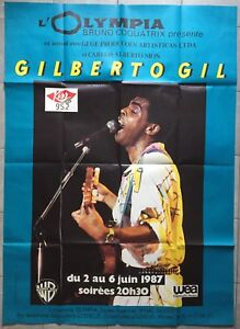 Affiche-concert-GILBERTO-GIL-a-l-039-Olympia-1987