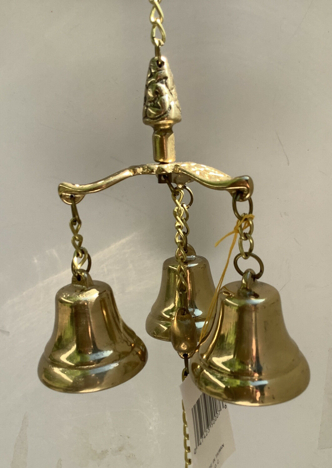 Vintage Solid Brass Wind Chime 3 Bells New Old Stock From K-Mart Made In Taiwan