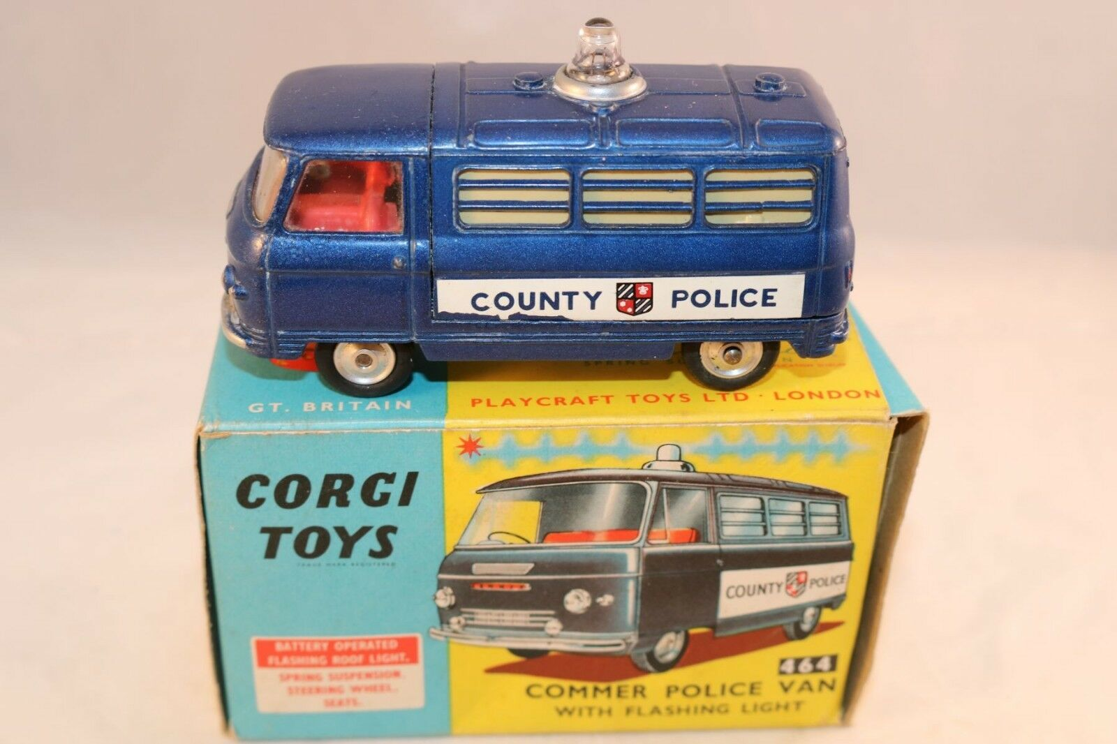 Corgi Toys 464 Commer Police Van perfect very near mint in box