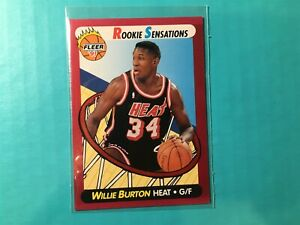 WILLIE-BURTON-1991-FLEER-ROOKIE-SENSATIONS-INSERT-CARD-7-MIAMI-HEAT