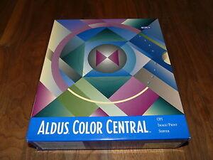 Aldus-Color-Central-2-5-3-5-fuer-WIN-englische-Version-Raritaet