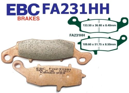 EBC Bremsbeläge Bremsklötze FA231HH VORN Suzuki RV 125 K2-K9//L0 Van-Van 02-10