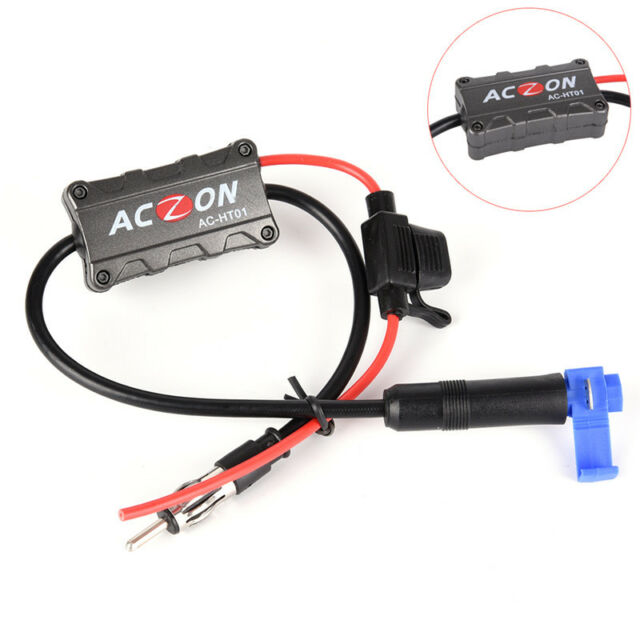 Universal Automobile Car FM/AM Radio Stereo Antenna Signal Amplifier Booster_WK