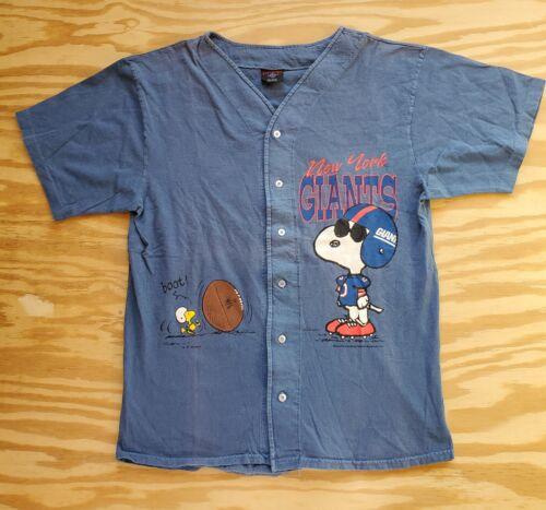 Vintage New York Giants Snoopy Woodstock Jersey T-