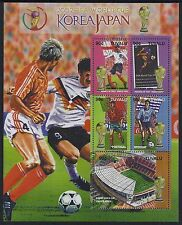 2002 TUVALU WORLD CUP FOOTBALL JAPAN/KOREA SHEETLET FINE MINT MNH/MUH