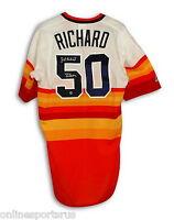 Autographed J.r. Richard Majestic Jersey 80 All Star rainbow Houston Astros