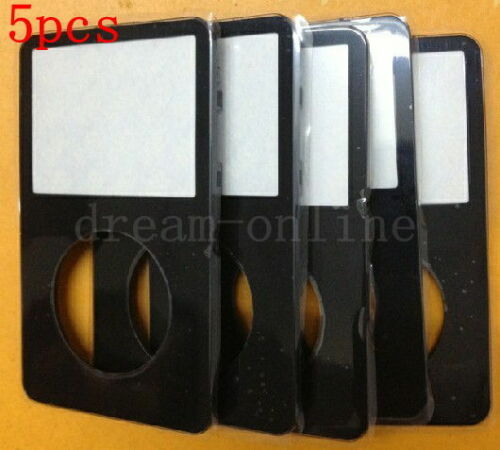 5pcs Front Faceplate Housing Cover for ipod 5th gen video 30GB//60GB//80GB Black