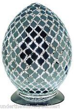 NEW Fabulous Medium Mosaic Glass Mirror Tile Egg Table Lamp ,Desk ,Bedside