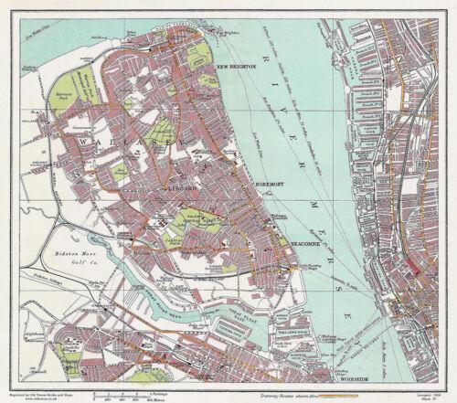 Large Map Reprint Sheet 17 Wallasey Liverpool 1928 Series