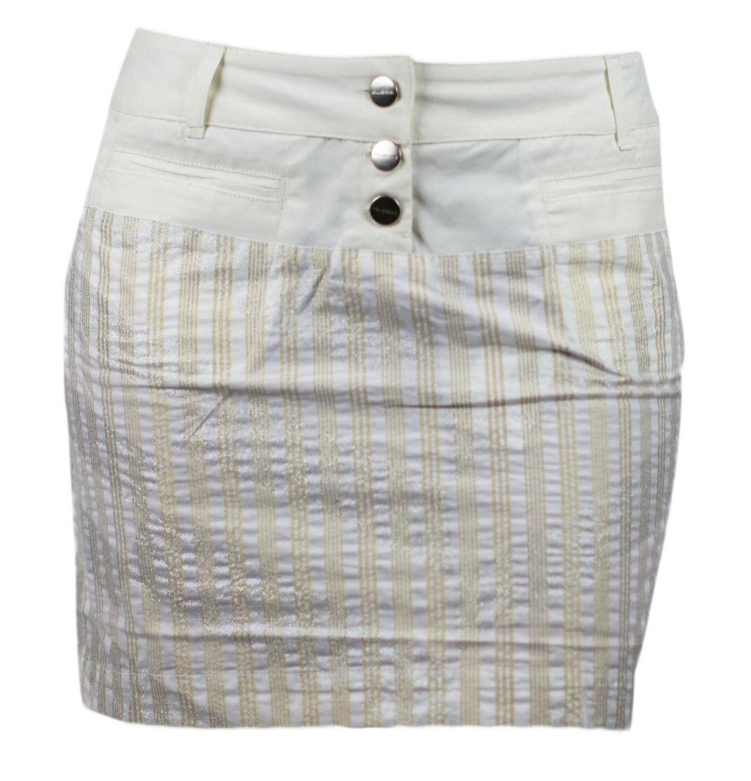 CUSTO BARCELONA Women's Kougra Vectex Striped Skirt 293635 NWT