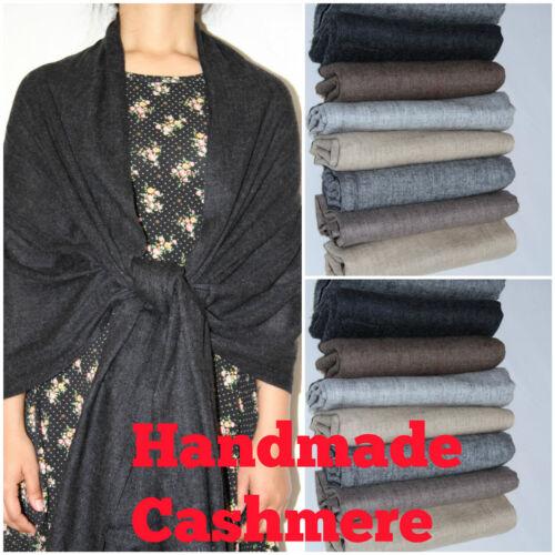 100/% Cashmere Pashmina Scarf Shawl Wrap Men Ladies Handmade Soft Delicate warm