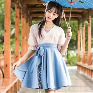 483b491b4 Image is loading Cute-Ancient-Chinese-Qi-Lolita-Gril-Mini-Dress-
