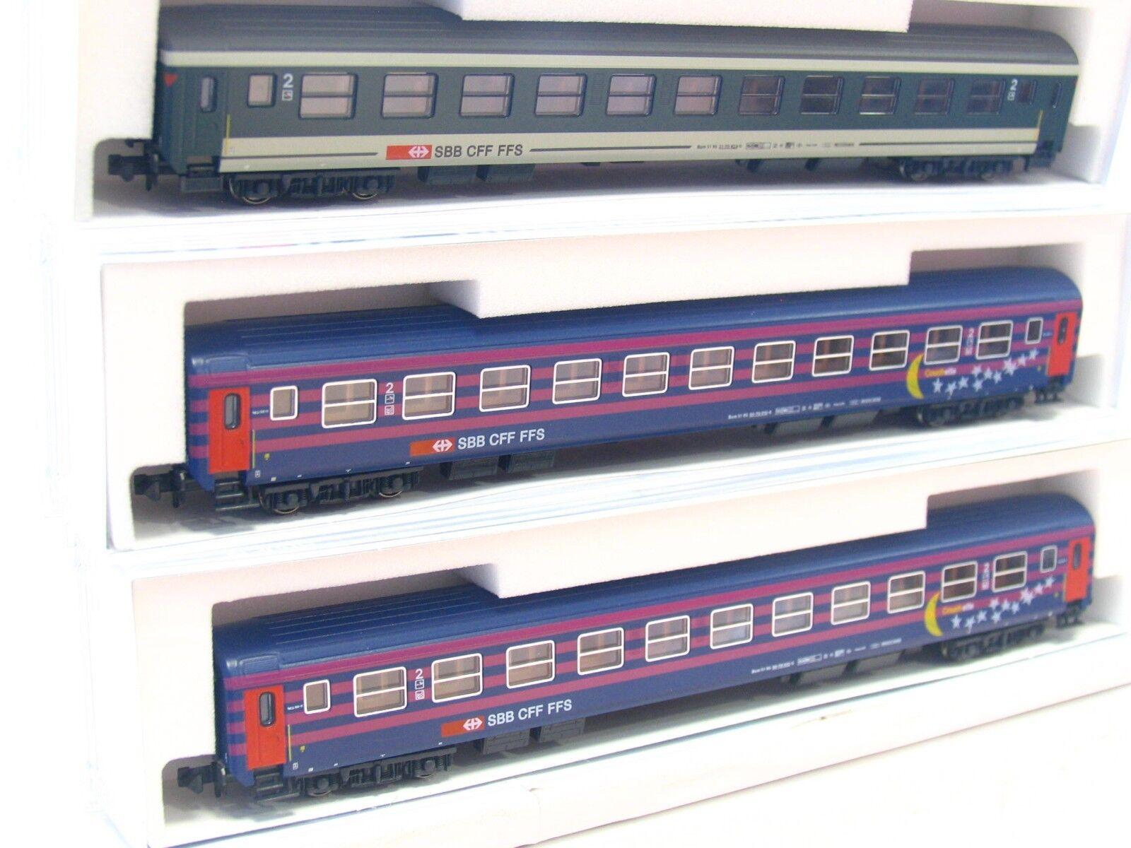 Kato N K23003 3er Set Couchette SBB CFF FFS OVP (V5663)