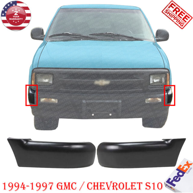 For 94 97 S10 Pickup 2wd Front Bumper Impact Bar End Valance W O Side Molding For Sale Online Ebay
