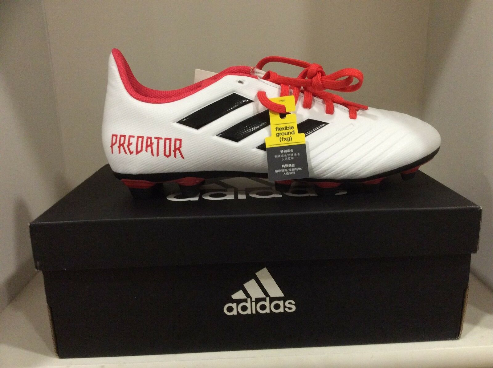 Adidas Predator 18.4 FXG Firm Ground Soccer Cleats Adult Sizes