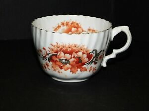 VICTORIAN-BONE-CHINA-MOUSTACHE-CUP-WITH-ORANGE-FLORAL-PATTERN