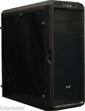 AVP X6 BLACK MID TOWER GAMING ATX PC CASE WITH FULL ACRYLIC FRONT & SIDE PANELS