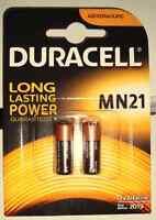 2x Batterie MN21 A23 Duracell 12 Volt - Blister - Neuste Produktion MHD 2020