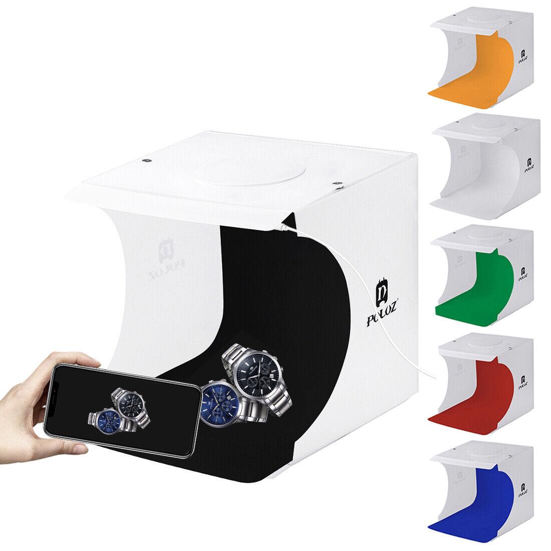 LED Light Room Photo Studio Photography Lighting Tent Kit Backdrop Cube Mini Box 6