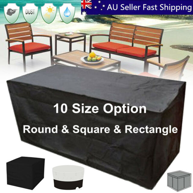 10 Size Waterproof Outdoor Patio Garden Furniture UV Rain Snow Cover Table