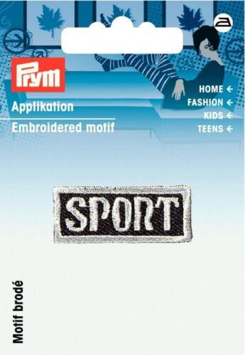 925810 Prym Hierro en apliques bordados motivo de etiqueta Deportes-cada uno