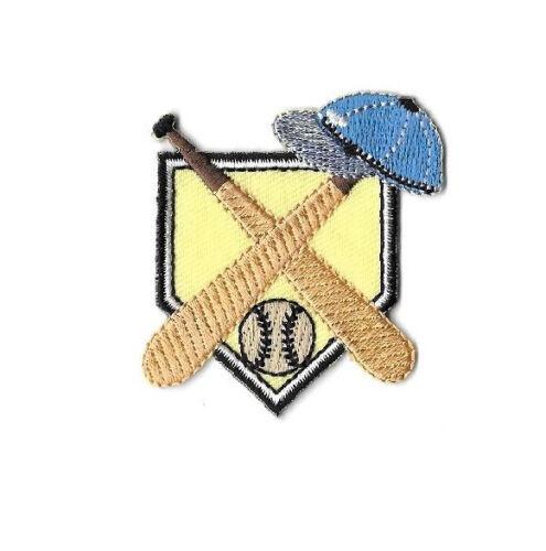 Coach Baseball Embroidered Iron On Patch Sports Baseball Hat//Bat/&Ball